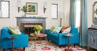 Jam-packed with bulky furniture, this living room couldn't breathe. See how HGTV Magazine gave it some style CPR.