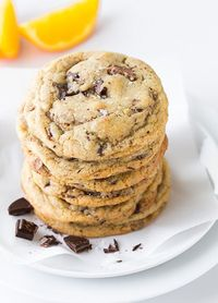 Orange, Chocolate Chunk and Sea Salt Cookies