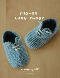 Slip-On Baby Lazy Shoes Crochet PATTERN Instant PDF by meinuxing