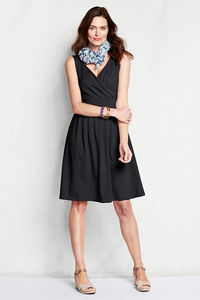 Women's Regular Sleeveless Solid Cotton Modal Fit and Flare Dress