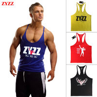 Tank Top Men ZYZZ Fitness Singlets Bodybuilding Sportwear $13.84