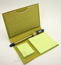 Cute little holder to keep your post it notes in - tutorial video at this site