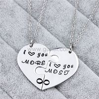 2 Piece Heart Promise Couple Pendants Gift https://www.gullei.com/2-piece-heart-promise-couple-pendants-gift.html