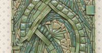 """3D Zentangle... Abstract Mosaic Wall Art Handmade Ceramic Tile """"Currents"""". via Etsy by Kathy Thompson."""