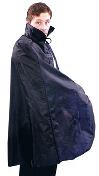 Cape 45In Taffeta Black $11.91 https://costumecauldron.com