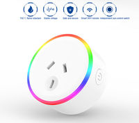 XS-A18 AC100-240V 10A AU Plug Smart WIFI Remote Control Socket Power Monitor Wireless Timer Switch Outlet With RGB LED Light Voice Control Works With Alexa Google Home