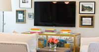 The television is a fact of modern life, but it doesn't have to be a modern eyesore! Use these ideas and tutorials to hide or decorate around the TV, electronic