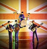 paper craft beatles - clever!