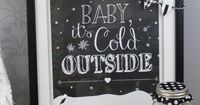 Baby It's Cold Outside Free Printable with mini bunting made with Cricut Explore -- 733Blog. #DesignSpaceStar Round 4