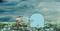 """""""The Marvelous Misadventures of Flapjack"""" (available on iTunes)--a great source of cute nautical illustration"""