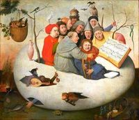 """Vintage Printable '�'�"""" Images of Hell Concert in the Egg Hieronymous Bosh, Hell in an egg"""