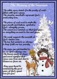 Legend of the Snowman Poem | ... .com '�'�' View topic - Poem: Meaning of the Snowman + Printable