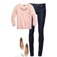 A fashion look from January 2015 featuring pink shirt, stretch jeans and tory burch shoes. Browse and shop related looks.