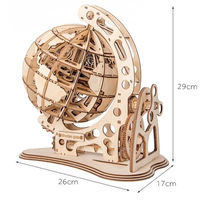 3D Wooden Puzzle Game,Rotatable Globe,Assembly Kit $62.30