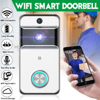 702P Waterproof Wifi Video Doorbell Camera Two-Way Audio Night Vision PIR Wireless Ring Bell Alarm