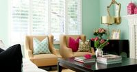 Best Paint Colors for Your Home: Sea Glass by Martha Stewart at BDG Style Living room accent wall