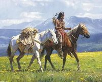 Oil painting native Indians horse home decor $149.00
