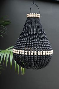 Lourmarin Beaded Chandelier - Black - View All - Lighting