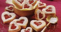 German Christmas Cookies Linzer hearts (or Linzer Herzen in German) are the cookie variation from the Linzer Cake. Easy to make German Christmas Cookie.