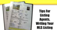"""Real Estate Marketing �€"""" Tips For Listing Agents, Writing Your MLS Listing"""
