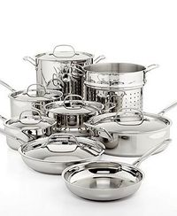 Cuisinart Chef's Classic Stainless Steel 14 Piece Cookware Set