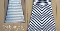 Comfy Old Navy skirt sewing tutorial