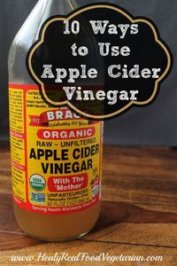 I've mentioned many times on my facebook page how great it is to use raw apple cider vinegar for your health. However, almost every time I post about it, I get