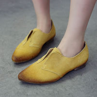 Candy Color Vintage Tip Wing Shoes Slip On Loafers