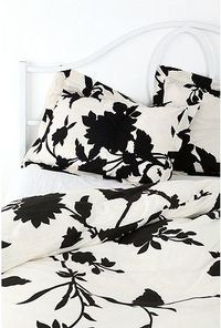 Silhouette Flower Shams - Set of 2