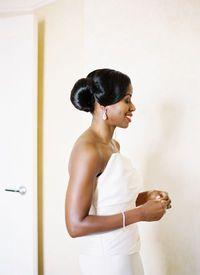 African American. Black Bride. Wedding Hair. Natural Hairstyles. gorgeous + sleek updo | Jonathan Canlas #wedding