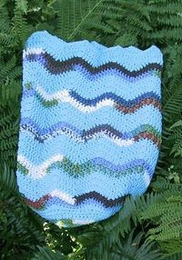 BIG RIPPLE SLEEP SACK free crochet pattern