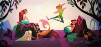 Peter Pan at the Mermaid Lagoon by Brittany Lee