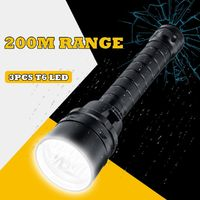 Rechargeable T6 LED Scuba Diving Flashlight Waterproof Underwater Snorkeling Torch