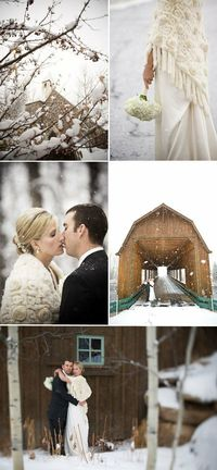 I know that it is a bit early to talk about a wedding in the snow but I came across these inspiration boards and I just thought they were too beautiful not to s