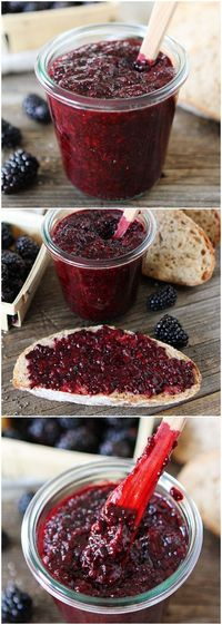 Blackberry Chia Seed Jam on twopeasandtheirpod.com Summer Recipe MUST