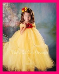 Belle Tutu Dress, Disney Princess Costume, Beauty and the Beast Tutu ...
