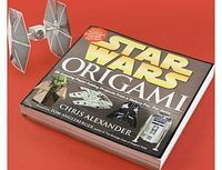 Firebox Star Wars Origami Fantastically detailed instructions and pre-printed paper make this the ideal project for fans of the show or folding paper. http://www.comparestoreprices.co.uk//firebox-star-wars-origami.asp