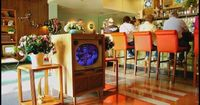 Tune-In Lounge outside of the 50's Prime Time Cafe in Disney's Hollywood Studies, Walt Disney World, Orlando, Florida