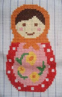 free Babushka cross stitch pattern from cupcake cutie