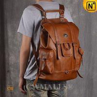 CWMALLS® Boston Men Vintage Leather Backpack CW908001[Global Free Shipping]