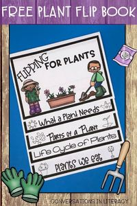 FREE Plant Activities! Life Cycle of Plants and Parts of a Plant are included in this fun spring plant writing activity flip book! first grade, second grade, third grade