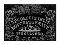 Ouija with Angel of Death Black glass cutting board 11x8 $47.65