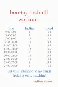 boo-tay tredmill workout.
