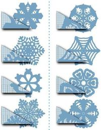 Paper Snowflakes - I love making these for Christmas decorations.