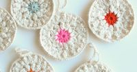 Whit's Knits: Snowflower Ornaments