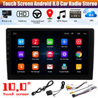 Universal 10Inch For Android 8.0 Car Radio Stereo Quad Core 2+32GB GPS Navigation Wifi FM AM RDS DAB DTV