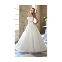 Exquisite A-line Strapless Beading&Sequins Lace Sweep/Brush Train Wedding Dresses - Dressesular.com