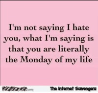 You're the Monday of my life funny quote