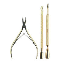 3Pcs Professional Stainless Nail Set Exfoliate Dead Skin Remover Scissors Cuticle Nipper Set