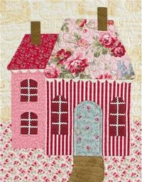 Sweetheart Houses Block 9 Kit: **Please note, this kit is for Block 9 only.** Block 9 of Sweetheart Houses by Shabby Fabrics. Block finishes to 14